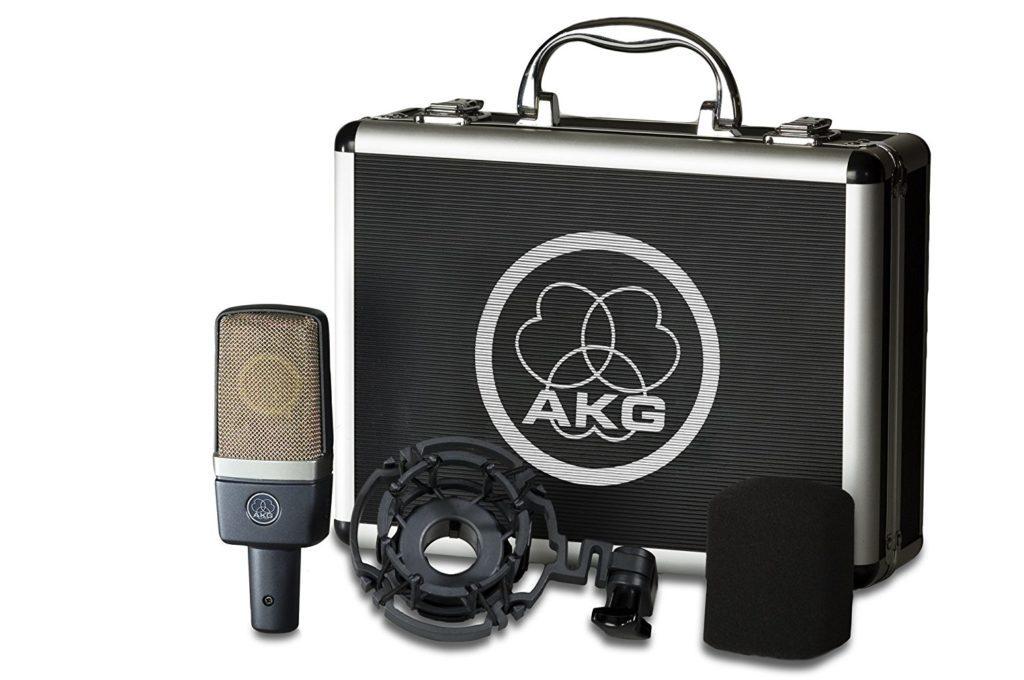AKG C214 Microphone de Studio Statique Cardioïde Noir