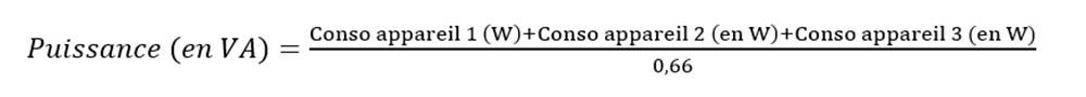 Comment calculer la puissance nécessaire d'un onduleur pour votre utilisation?