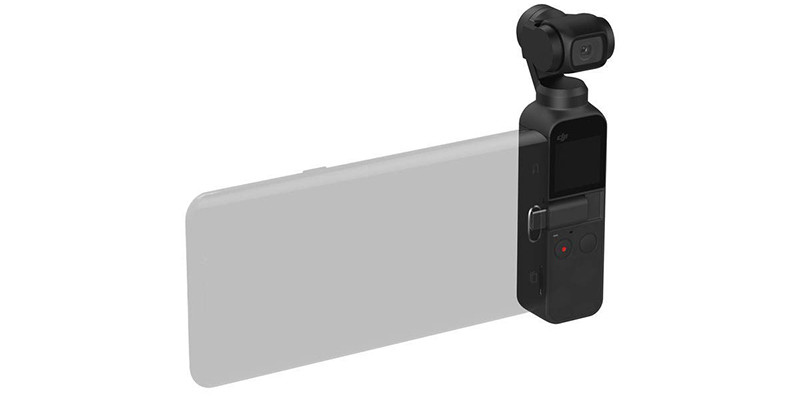 DJI Osmo Pocket - Caméra Portable à nacelle 3 AxeUtilisation Iphone