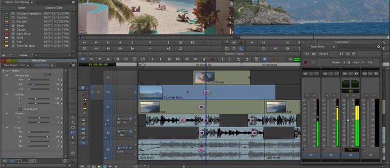 Logiciels de retouche video gratuits - AvidMedia Composer