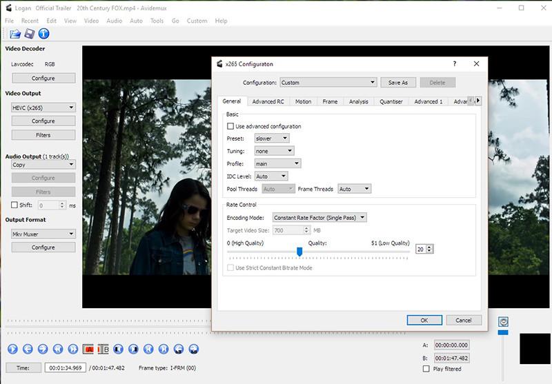 Logiciels de retouche video gratuits - Avidemux