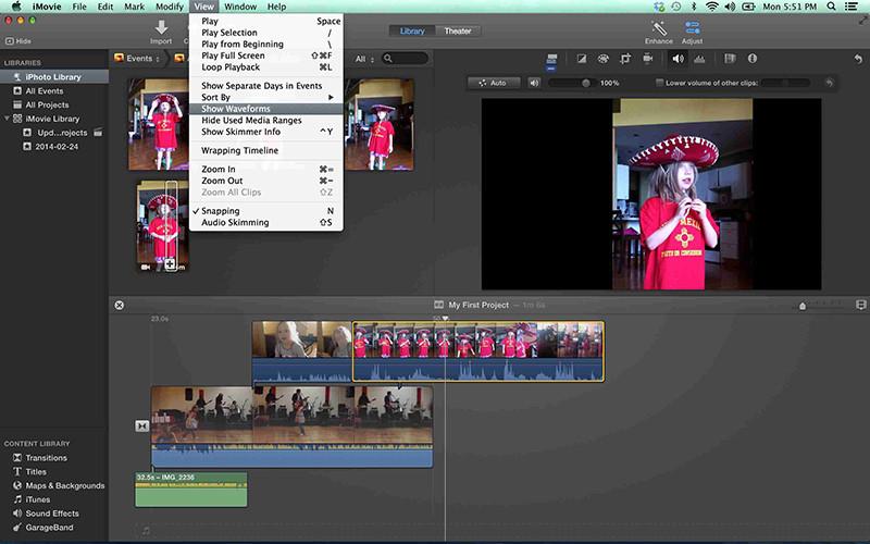 Logiciels de retouche video gratuits - IMOVIE