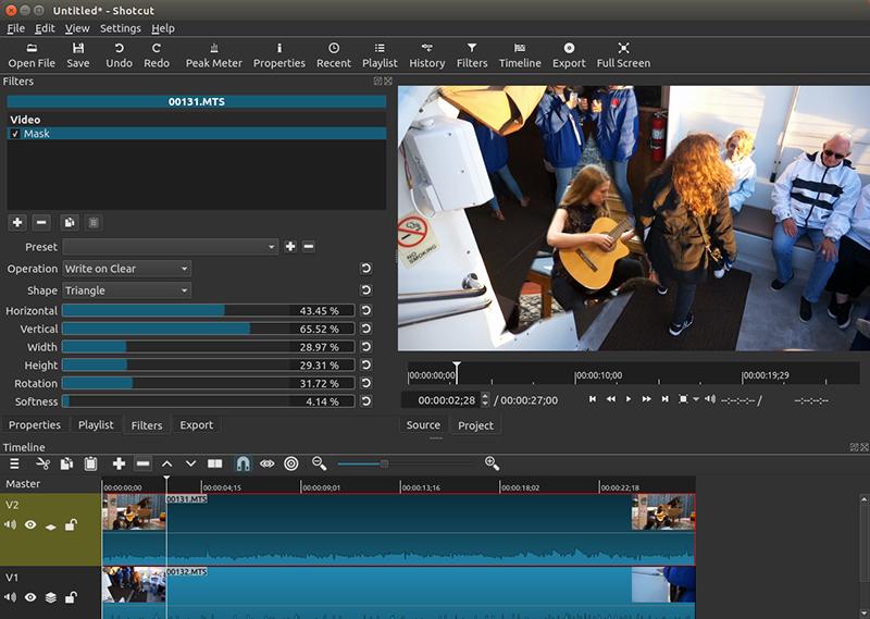 Logiciels de retouche video gratuits - ShotCut