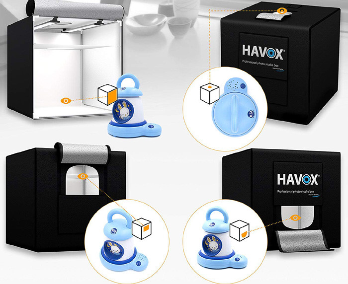 Avis HAVOX - Studio Photo HPB-60D - Dimension 60x60x60cm