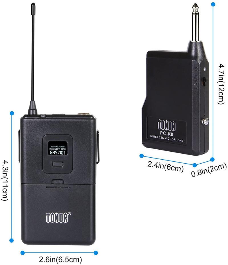 Microphone Cravate sans Fil VHF Micro Lavalier Revers