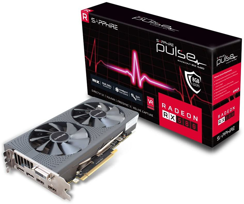 Avis Sapphire 112650520G Carte Graphique AMD Radeon RX 580 8 Go 1366 MHz PCI Express