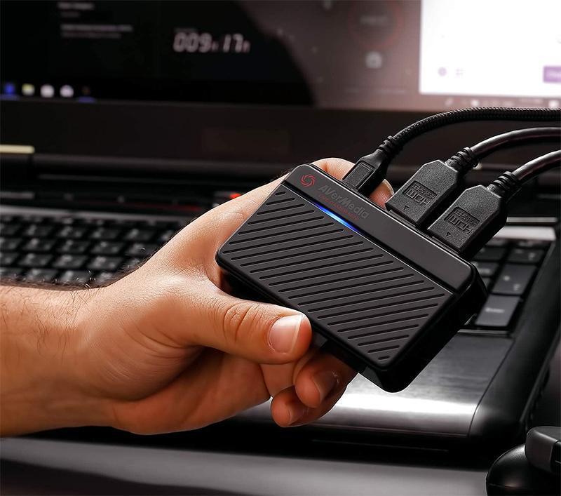 Avis - AVerMedia Live Gamer MINI, Pass-Through full HD 1080p60, Carte de capture de jeu USB 2.0, Encodeur matériel, Plug & Play, Pour les débutants, Nintendo Switch, PS4, Xbox, iPhone, iPad (GC311)