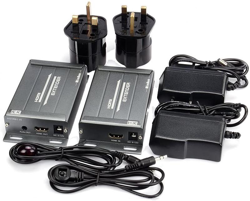 Avis - Mirabox HDMI Extender avec Commande Infrarouge et Audio de 3,5 mm Extracteur Via CAT5 Cat5e Cat6 Cat7 Câble Ethernet RJ45 sur TCP IP jusqu'à 393 Pieds 1080p Full HD émetteur