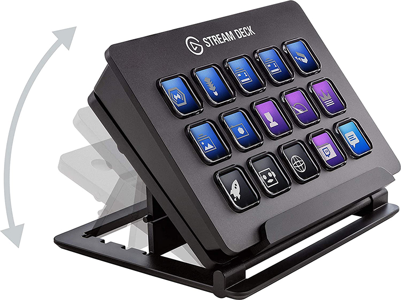 Test et avis - Elgato Stream Deck - Contrôleur de Création de contenus en Direct, 15 Touches LCD Personnalisables, Support Réglable, Windows 10 et macOS 10.13 ou Version Plus Récente