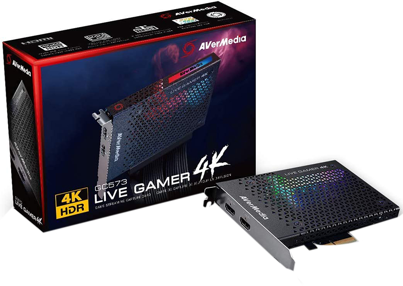 test et avis - AVerMedia Live Gamer 4K, Carte de Capture et Streaming Vidéo Gaming HDMI 2.0, 4Kp60 HDR, Très Faible Latence, Enregistre jusqu'à 240 FPS, Eclairage RGB (GC573)