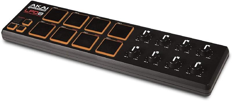 Test - AKAI Professional LPD8 – Contrôleur USB,MIDI Ultra Compact avec 8 Pad Rétro-Éclairés Sensibles à La Vélocité et 8 Potentiomètres Q-Link