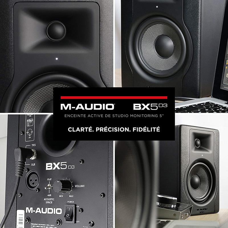 avis - M-Audio – BX5 D3 – Enceinte de Monitoring Studio Professionnel 100 W Actives