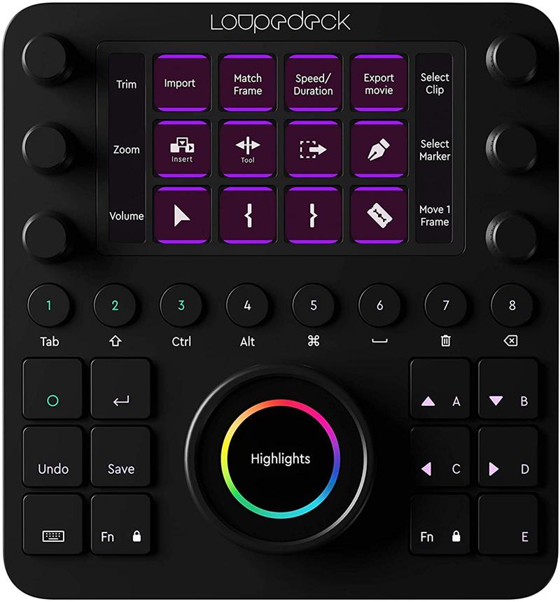test - Loupedeck Creative Tool - La Console d'édition personnalisée pour la Photo, la vidéo, la Musique et Le Design.