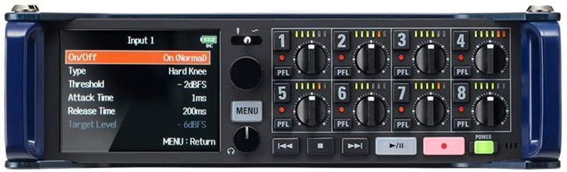 test - Zoom F8n – Enregistreur multipiste broadcast de terrain – 8 préamplis