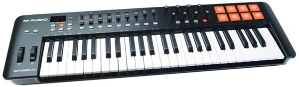 test - M-Audio Oxygen 49 IV – Clavier Maître MIDI 49 Touches avec 8 Pads Sensibles